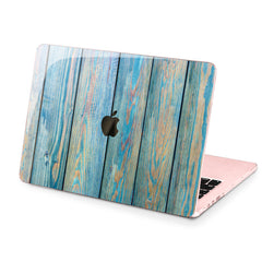 Lex Altern Hard Plastic MacBook Case Blue Planks