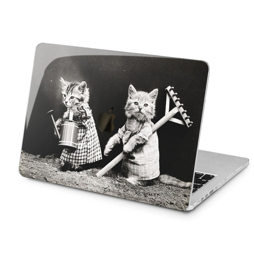 Lex Altern Lex Altern Black and White Cats Case for your Laptop Apple Macbook.