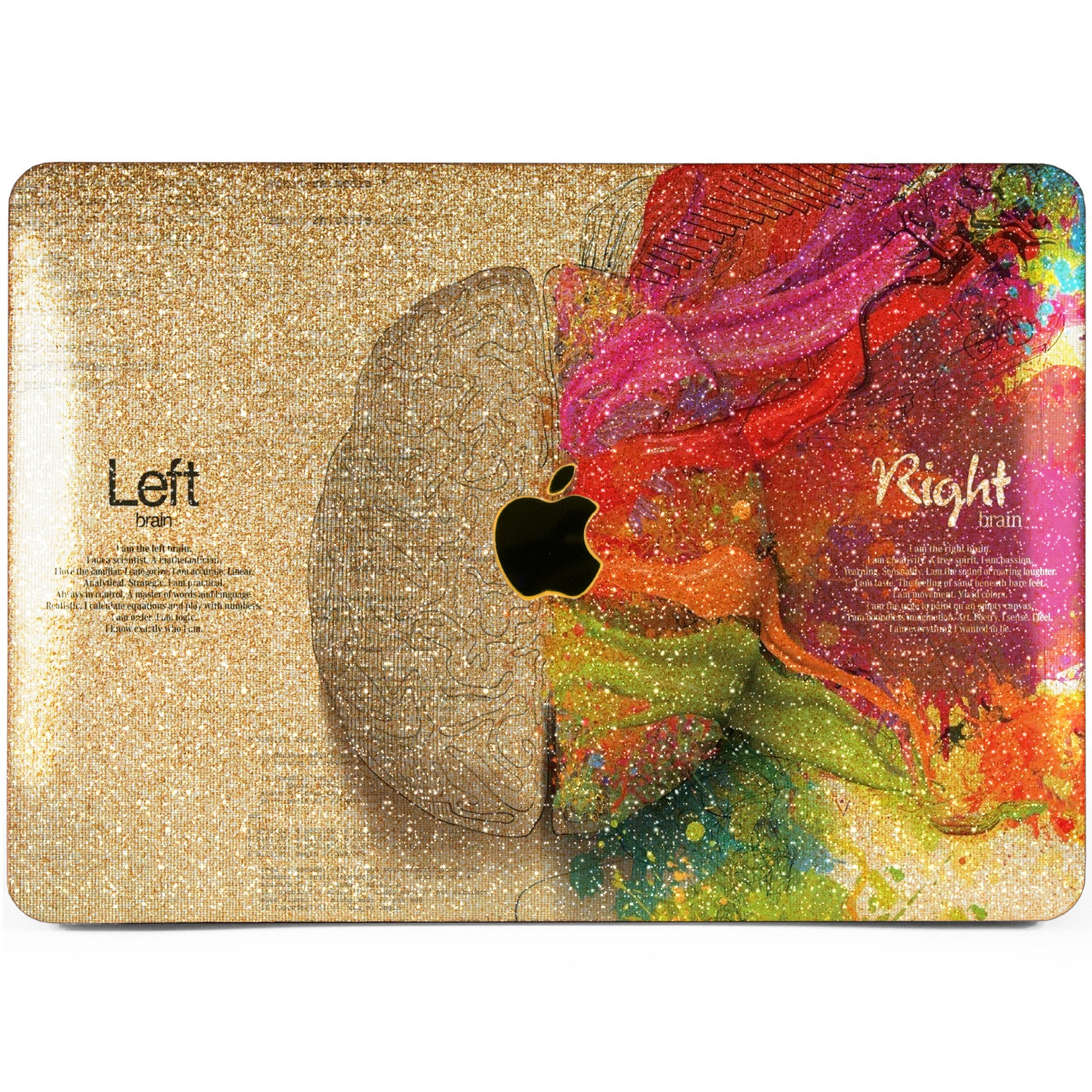 Lex Altern MacBook Glitter Case Left and Right