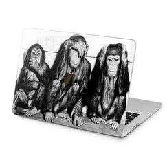 Lex Altern Lex Altern Three Wise Monkeys Case for your Laptop Apple Macbook.