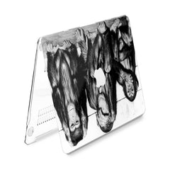 Lex Altern Hard Plastic MacBook Case Three Wise Monkeys