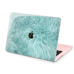 Lex Altern Hard Plastic MacBook Case Blue Fur