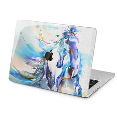 Lex Altern Lex Altern Horse Watercolor Case for your Laptop Apple Macbook.
