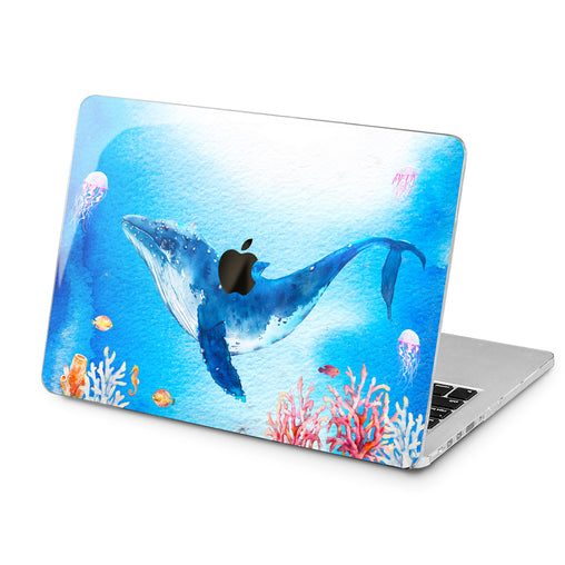 Lex Altern Lex Altern Whale Watercolor Case for your Laptop Apple Macbook.