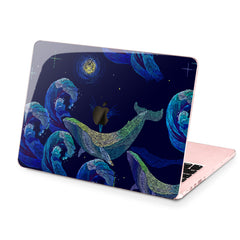 Lex Altern Hard Plastic MacBook Case Painted Whale