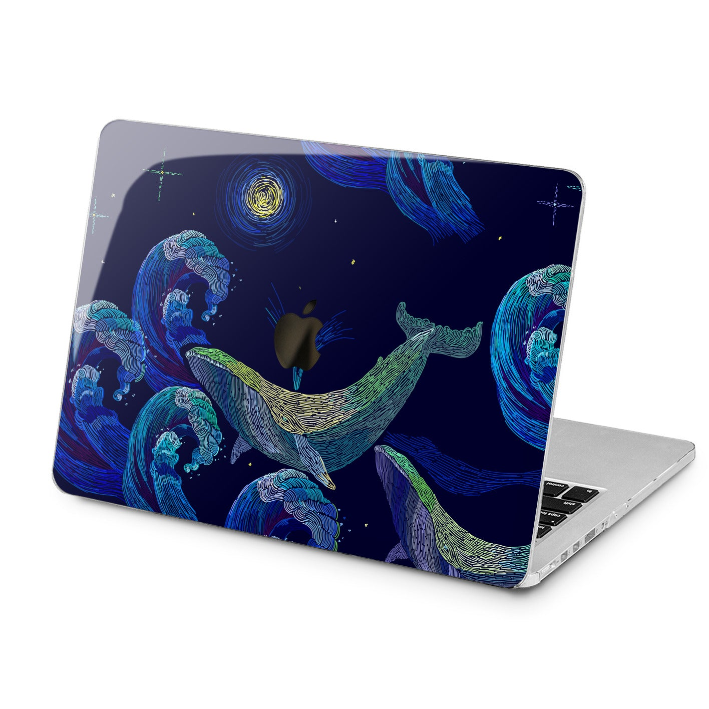Lex Altern Lex Altern Painted Whale Case for your Laptop Apple Macbook.