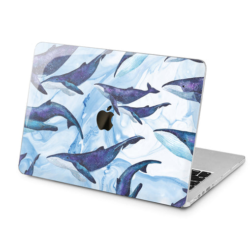Lex Altern Lex Altern Blue Whales Case for your Laptop Apple Macbook.
