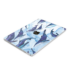 Lex Altern Hard Plastic MacBook Case Blue Whales