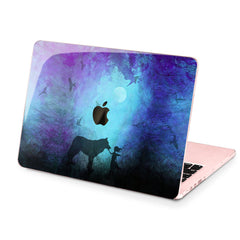 Lex Altern Hard Plastic MacBook Case Girl and Wolf