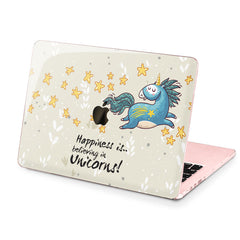 Lex Altern Hard Plastic MacBook Case Happy Unicorn
