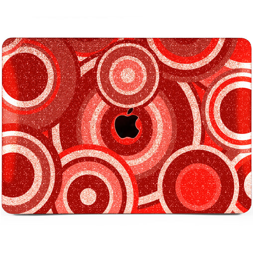 Lex Altern MacBook Glitter Case Red Circles