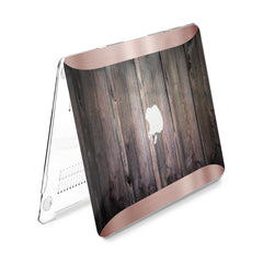 Lex Altern Hard Plastic MacBook Case Wooden Design