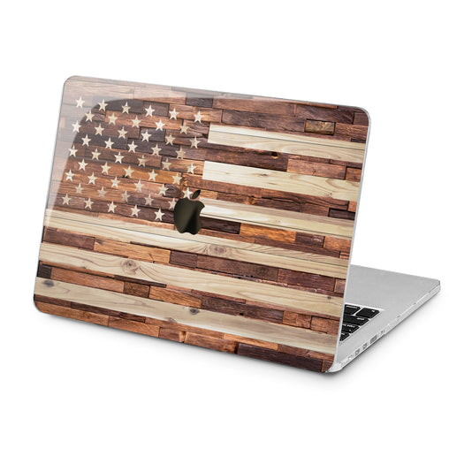 Lex Altern Lex Altern American Flag Case for your Laptop Apple Macbook.