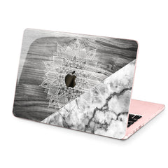 Lex Altern Hard Plastic MacBook Case Gray Mandala