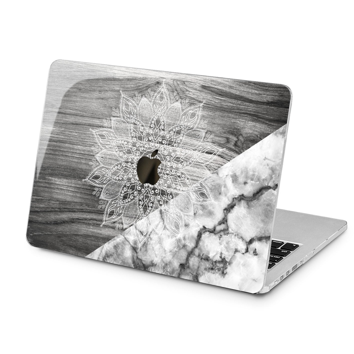 Lex Altern Lex Altern Gray Mandala Case for your Laptop Apple Macbook.