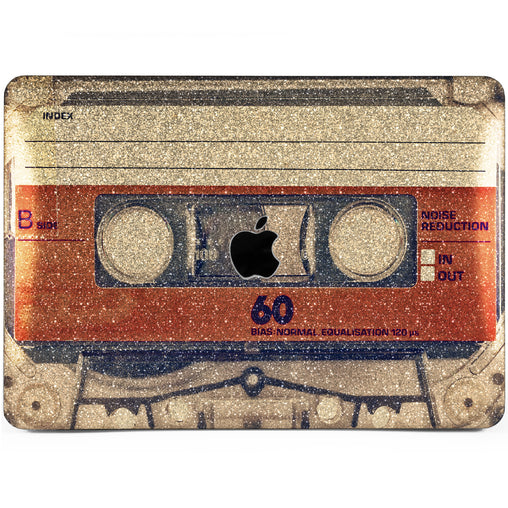 Lex Altern MacBook Glitter Case Vintage Cassette