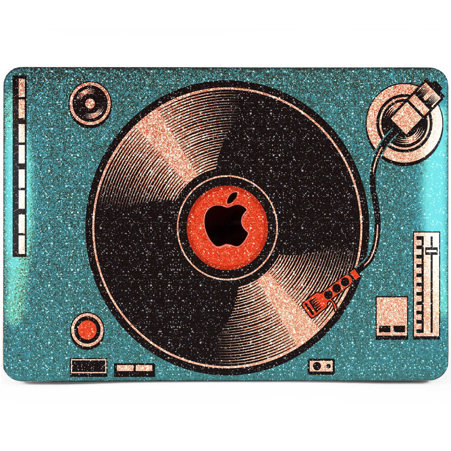 Lex Altern MacBook Glitter Case Blue Vinyl Player
