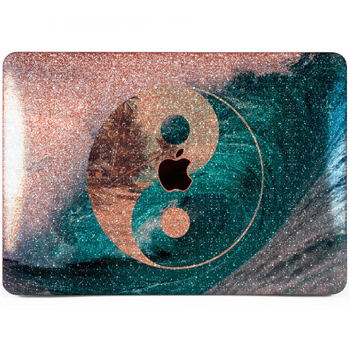 Lex Altern MacBook Glitter Case Ying Yang Wave