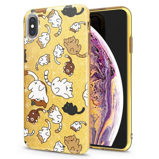 Lex Altern iPhone Glitter Case Adorable Cats