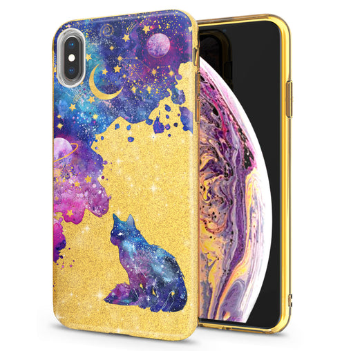 Lex Altern iPhone Glitter Case Amazing Galaxy Cat