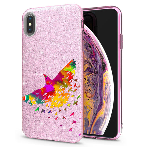 Lex Altern iPhone Glitter Case Abstract Bird