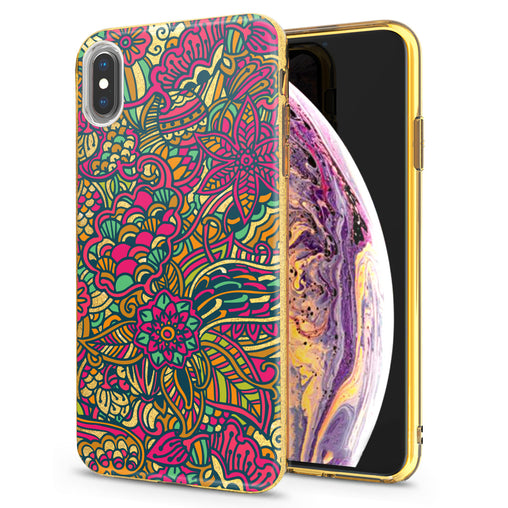 Lex Altern iPhone Glitter Case Abstract Floral Art