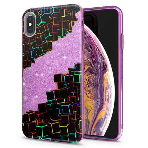 Lex Altern iPhone Glitter Case Abstract Squares