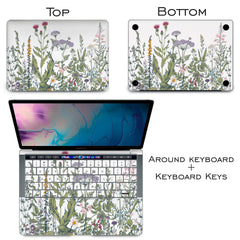 Lex Altern Vinyl MacBook Skin Wild Flowers