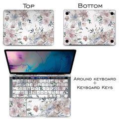 Lex Altern Vinyl MacBook Skin Painted Flowers