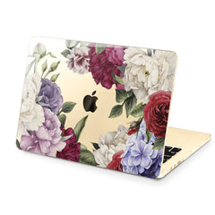 Lex Altern Hard Plastic MacBook Case Colorful Flowers Art