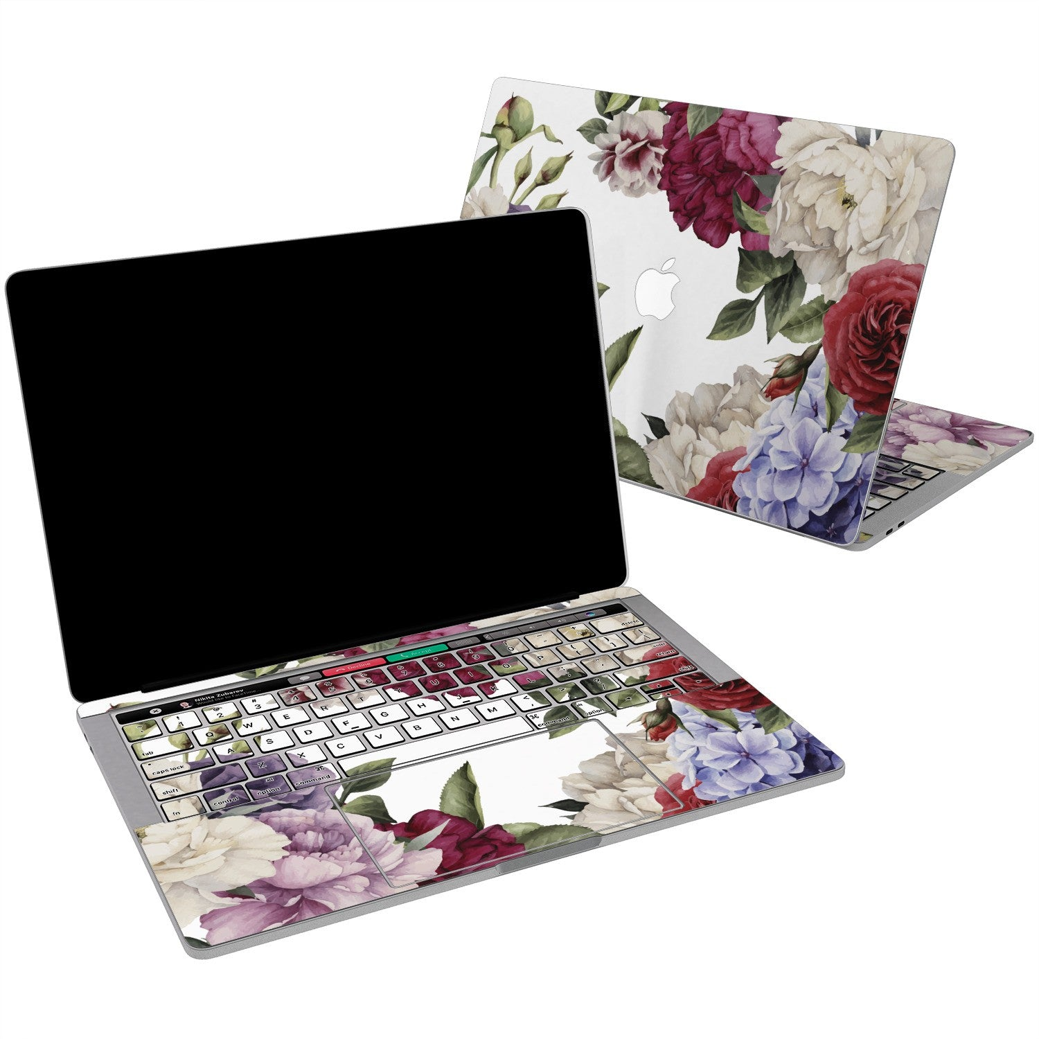 Lex Altern Colorful Flowers Art Vinyl Skin for your Laptop Apple Macbook.