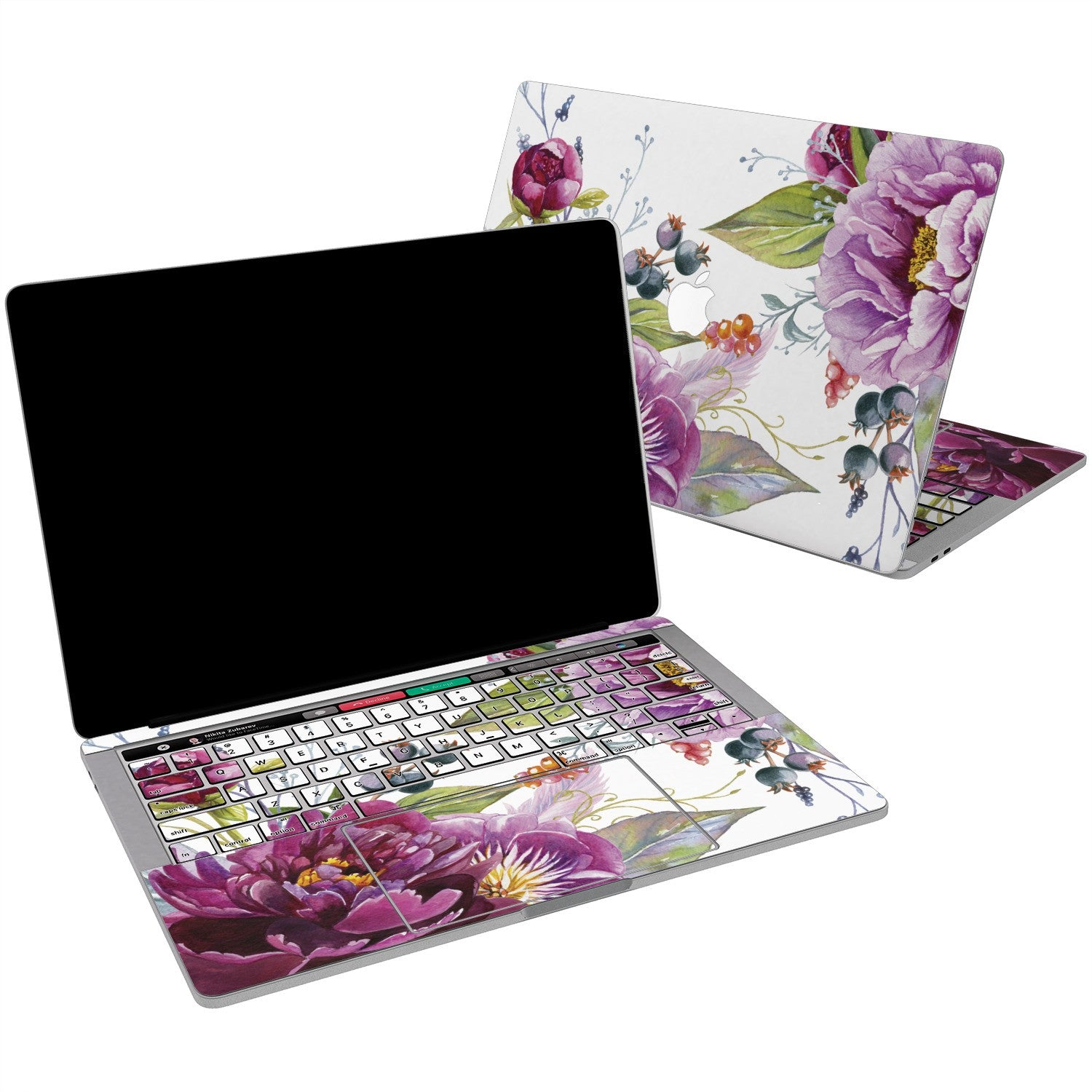 Lex Altern Vinyl MacBook Skin Purple Floral for your Laptop Apple Macbook.