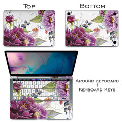 Lex Altern Vinyl MacBook Skin Purple Floral