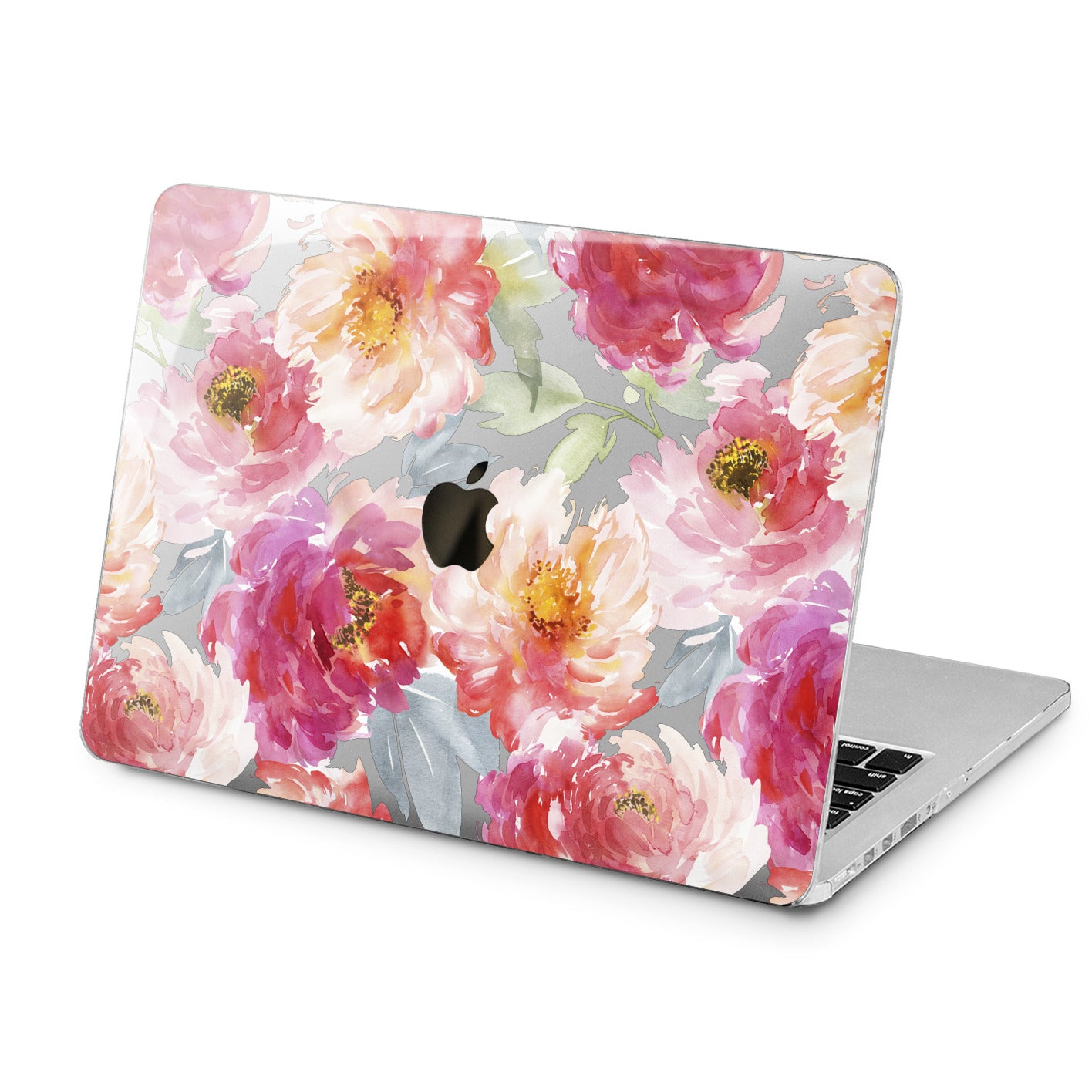 Lex Altern Pink Peonies Design Case for your Laptop Apple Macbook.