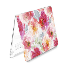 Lex Altern Hard Plastic MacBook Case Pink Peonies Design