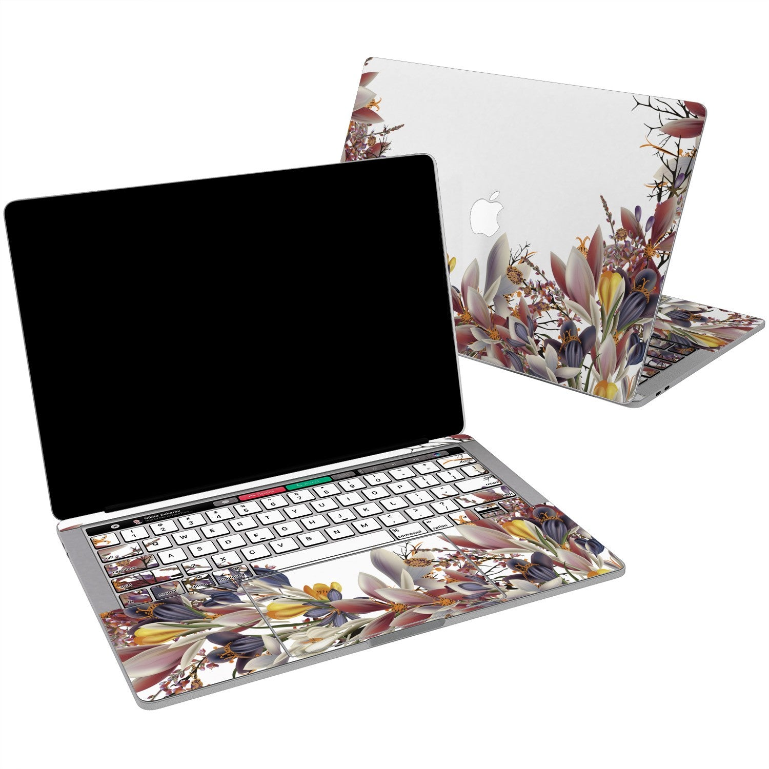 Lex Altern Vinyl MacBook Skin Crocus Flowers for your Laptop Apple Macbook.