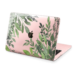 Lex Altern Hard Plastic MacBook Case Green Leaves Design