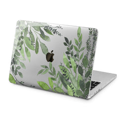 Lex Altern Green Leaves Design Case for your Laptop Apple Macbook.