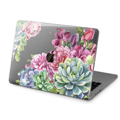 Lex Altern Hard Plastic MacBook Case Succulent Flowers Design