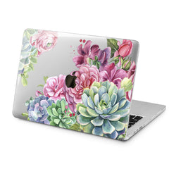 Lex Altern Succulent Flowers Design Case for your Laptop Apple Macbook.