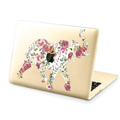 Lex Altern Hard Plastic MacBook Case Floral Elephant Art