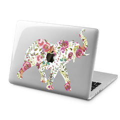 Lex Altern Floral Elephant Art Case for your Laptop Apple Macbook.