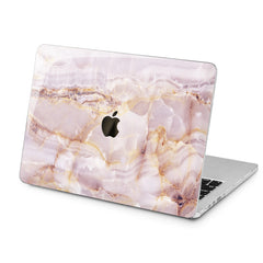 Lex Altern Pink Marble Design Case for your Laptop Apple Macbook.