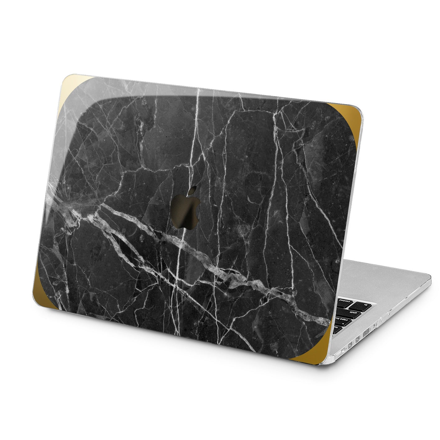 Lex Altern Black Marble Stone Case for your Laptop Apple Macbook.