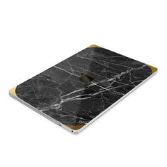 Lex Altern Hard Plastic MacBook Case Black Marble Stone