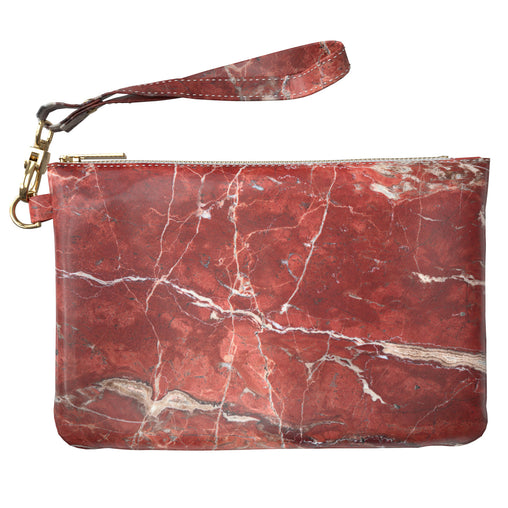 Lex Altern Makeup Bag Red Marble