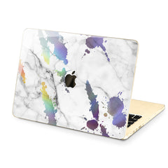 Lex Altern Hard Plastic MacBook Case Rainbow Marble