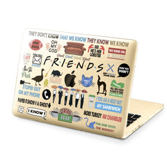 Lex Altern Hard Plastic MacBook Case Friends