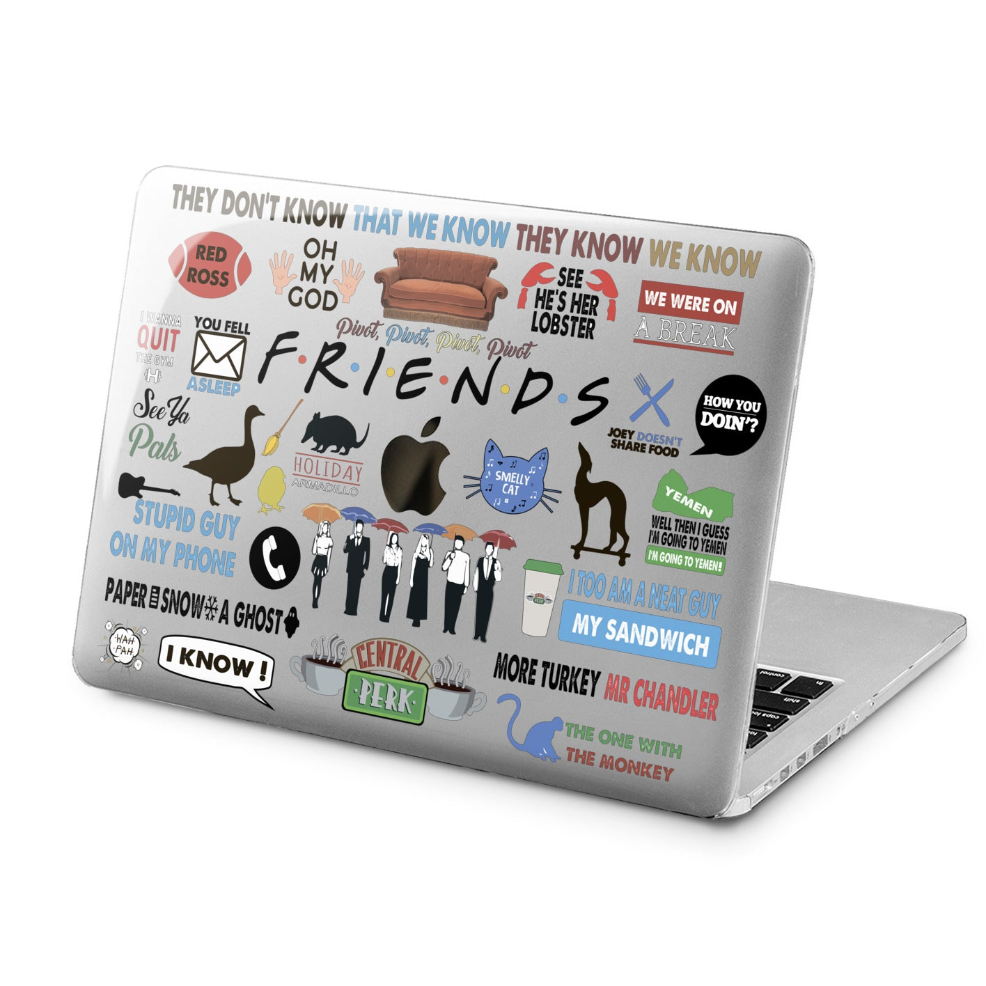 Lex Altern Friends Case for your Laptop Apple Macbook.