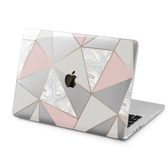 Lex Altern Triangle Marble Design Case for your Laptop Apple Macbook.